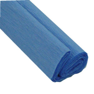 Krepa kolorowa, bibu�a marszczona 18 niebieska x1