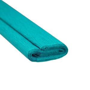 Krepa kolorowa, bibuła marszczona 21 turkusowa x1