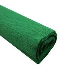Krepa kolorowa, bibu�a marszczona 24 c.zielona x1
