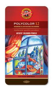 Kredki Koh-I-Noor Polycolor 12 kol opak.metal. x1 - 2873797659