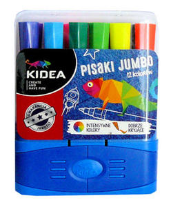 Pisaki Kidea Jumbo 12kol. w pudełku x1 - 2834653192
