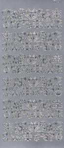 Sticker srebrny 04090 - motywy wiosenne x1
