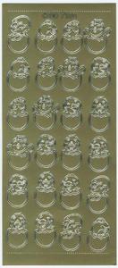 Sticker złoty 07104 - kurczaki w jajku x1 - 2846498231