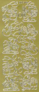 Sticker złoty 07103 - zajączki x1 - 2846498232