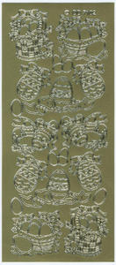 Sticker złoty 07102 - pisanki x1 - 2846498233