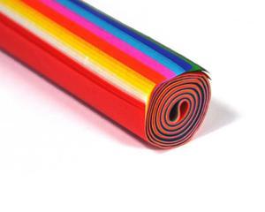 Bibuła gładka 34x48cm mix. kolorów rolka 12kol x1 - 2850938234