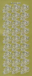 Sticker złoty 06503 - róże x1 - 2843439511