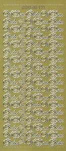 Sticker złoty 48171 - w dniu ślubu x1