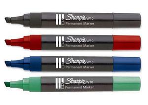 Marker Papermate Sharpie W10 ścięty - czarny - 2835855818