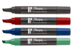 Marker Papermate Sharpie W10 ścięty - czerwony - 2835855819