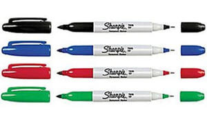 Marker Papermate Sharpie Twin - czerwony x1 - 2835855822