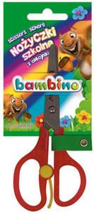 Nożyczki Bambino Mini ZOO z odbojnikiem dla prawor - 2835855924
