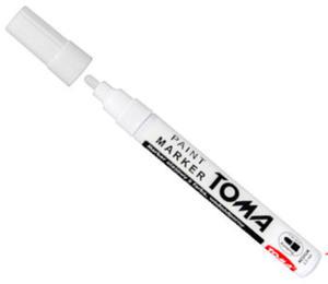 Marker olejowy Toma 2,5mm biały x1