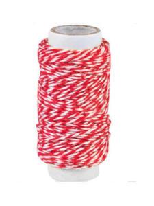 Sznurek bawełniany piekarski 20mb - czerwony x1 - 2864292819
