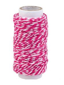 Sznurek bawełniany piekarski 20mb - różowy x1 - 2837847357