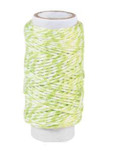 Sznurek bawełniany piekarski 20mb - jasnozielonyx1 - 2837847359