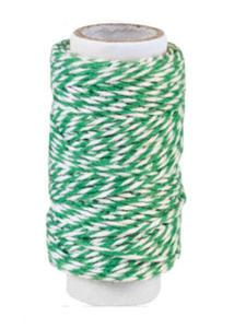 Sznurek bawełniany piekarski 20mb - zielony x1 - 2837847360