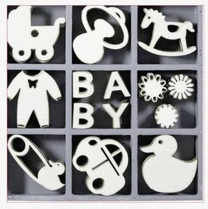 Elementy drewniane 45szt. baby - 2837847392
