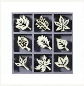 Elementy drewniane 45szt. liście - 2837847394