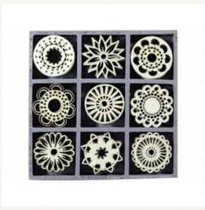 Elementy drewniane 45szt. rozetki - 2837847395