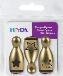 Zestaw mini stempelków Heyda 3szt. - gwiazdy - 2837847414