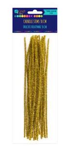 Druciki kreatywne 30cm metalizowane złote x25 - 2856160951