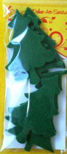 Elementy dekoracyjne z filcu choinki x6 - 2838759314