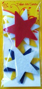 Elementy dekoracyjne z filcu gwiazdki x6 - 2838759315