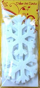 Elementy dekorayjne z filcu śnieżynki x6 - 2838759316