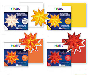 Papier do origami 20x20 Heyda transparentny pomara - 2846498467