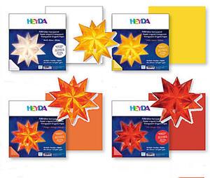 Papier do origami 20x20 Heyda transparentny czerw - 2846498468