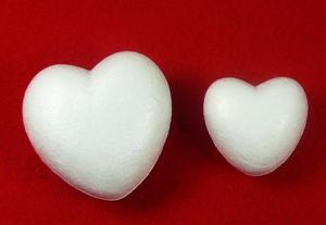 Styropianowe serca 100mm x4 - 2846498515