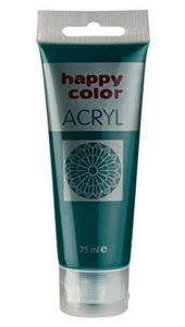 Farba akrylowa Happy Color 75g - zielona ciemna x1 - 2846498552