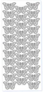Sticker srebrny 0715 - motylki (R28) x1 - 2846498242