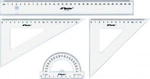 Przybory geometryczne szkolne komplet 30cm x1 - 2847288253