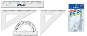 Przybory geometryczne szkolne komplet 16cm x1 - 2847288257
