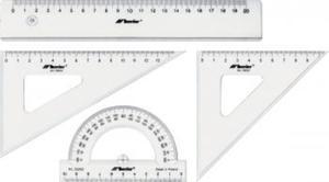 Przybory geometryczne szkolne komplet 20cm x1 - 2847288260