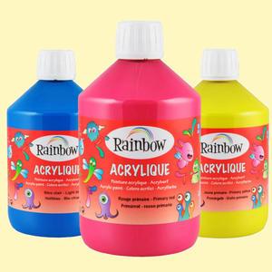 Farba akrylowa RAINBOW 500ml - pink x1 - 2847288312