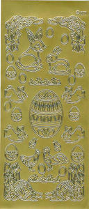 Sticker złoty 02380 - motywy wielkanocne x1 - 2824959905