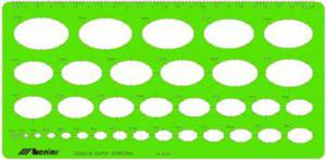 Szablon elipsy izometria x1 - 2847289020