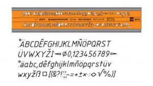 Szablon literowo-cyfrowy 1,8mm kursywa x1 - 2847289027