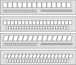 Szablon okienkowy prosty 20mm/7,5mm/5mm x1 - 2847289029