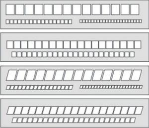 Szablon okienkowy pochyły 15mm/10mm x1 - 2847289032