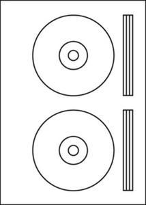 Etykieta samoprzylepna UNI CD x50 - 2847289103