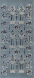 Sticker srebrny 20700 - motywy komunijne x1 - 2824959935