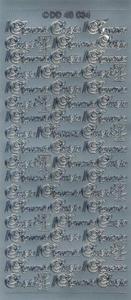 Sticker srebrny 48034 - I Komunia x1