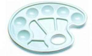 Paletka plastikowa owalna 16,5x23,5cm x1 - 2847517751