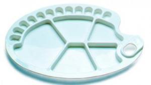 Paletka plastikowa owalna 34x24,5cm x1 - 2847517754