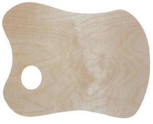 Paletka drewniana malarska 28,5x19,5cm x1 - 2847517755