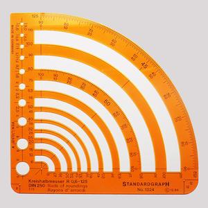 Szablon promienie 0,6-125mm x1 - 2847518046